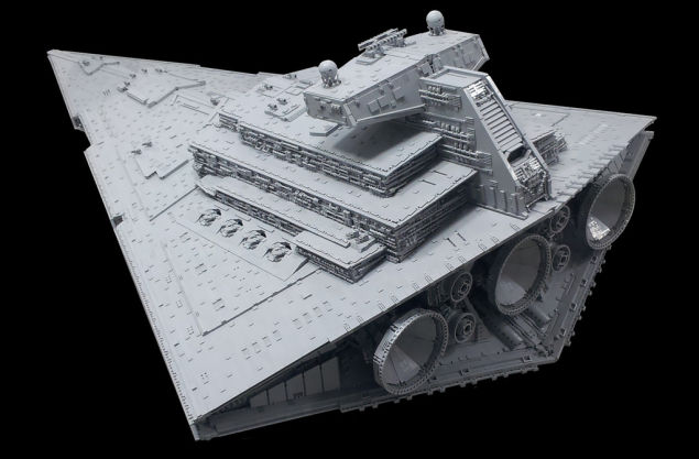Star Wars Chimaera Imperial IIclass Star Destroyer made from Lego Bricks